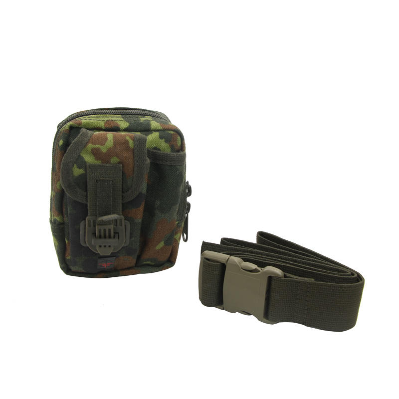 Military tool bag nylon fabric zipper closure