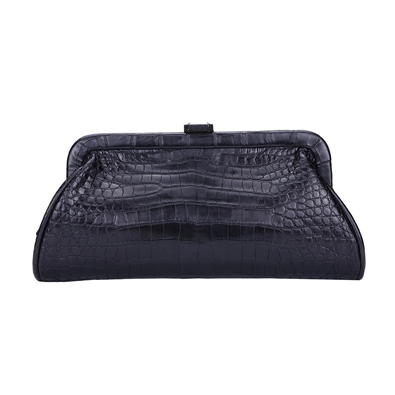 Cosmetic bag leather make top closure
