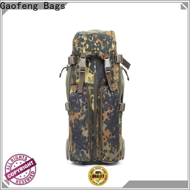 GF bags custom best tactical backpack bulk production for shopping