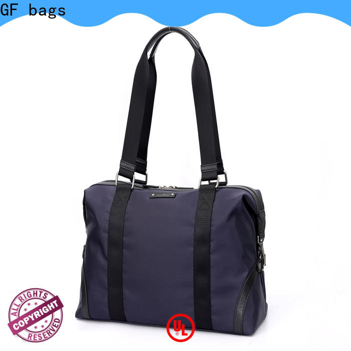 GF bags metal leather duffle bag mens customization for male