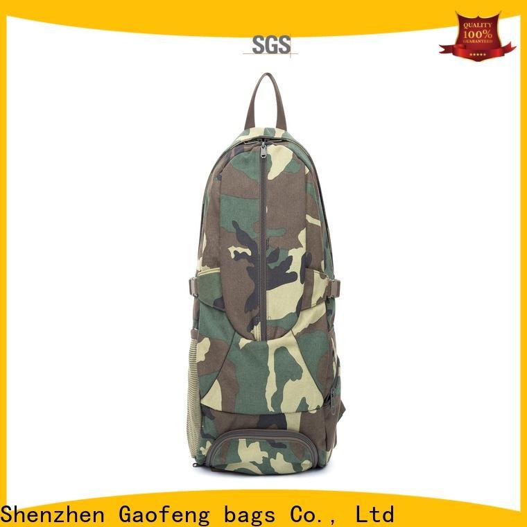 GF bags nylon tactical shoulder bag bulk production for ladies