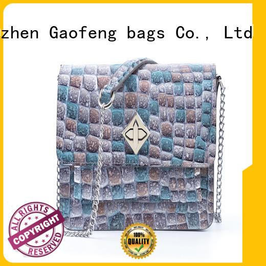 shape ladies shoulder bag supplier for shopping GF bags