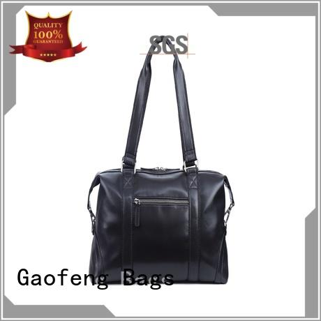 GF bags handle leather duffle bag mens supplier for boy