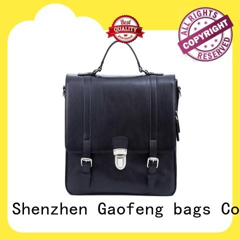 GF bags genuine leather computer messenger bag bulk production for girls