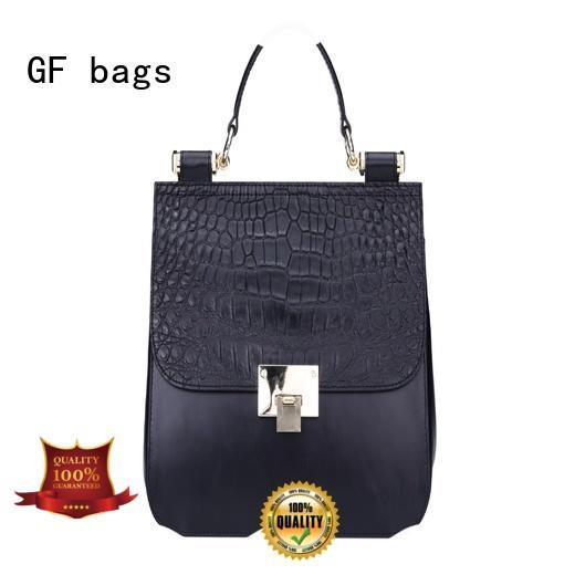 GF bags weaving cool handbags lock for ladies