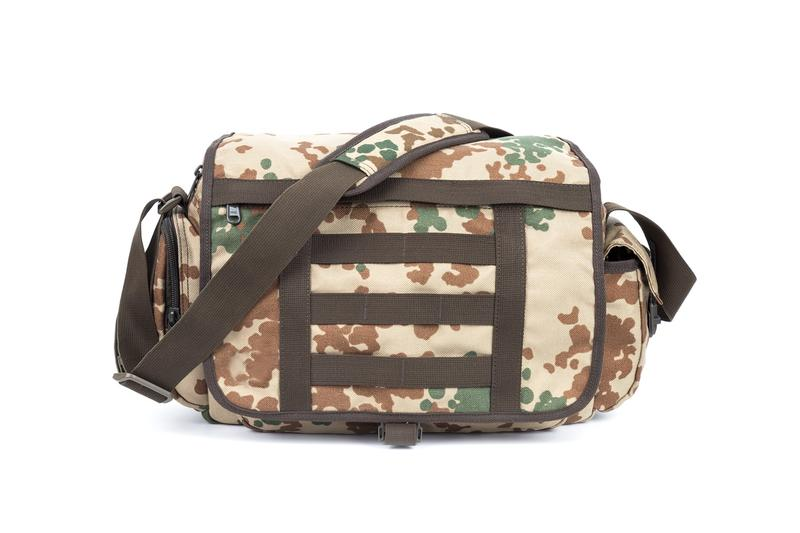 Military Messenger Bag Nylon fabric zipper closure