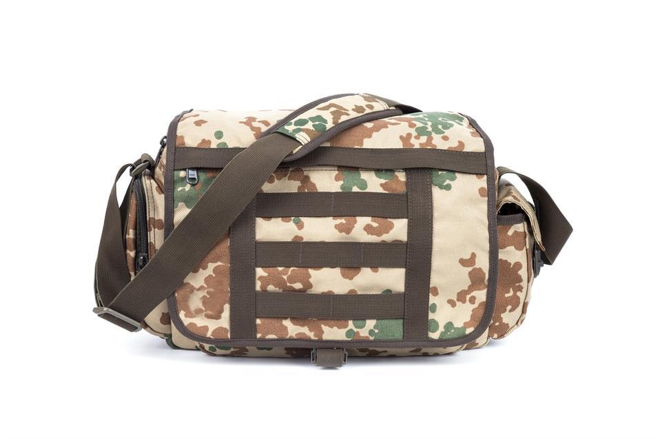 Military Messenger Bag Nylon fabric zipper closure