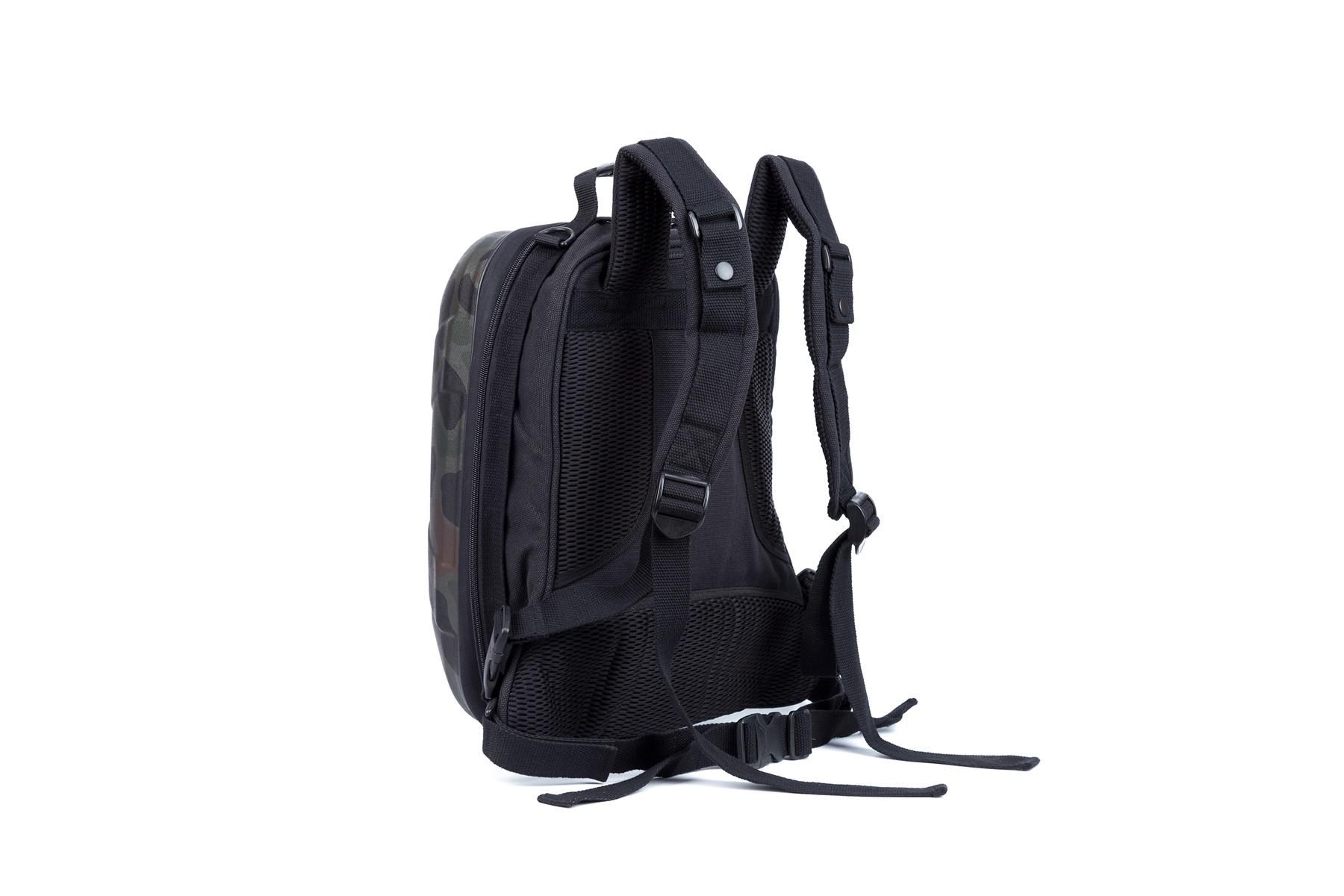 Military backpack hard shell with zipper closure