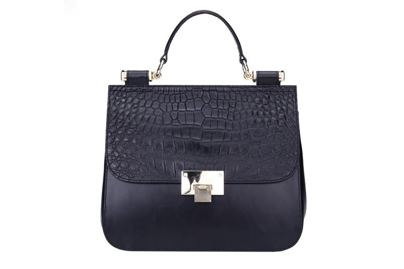 simple luxury handbags metal duffle for women