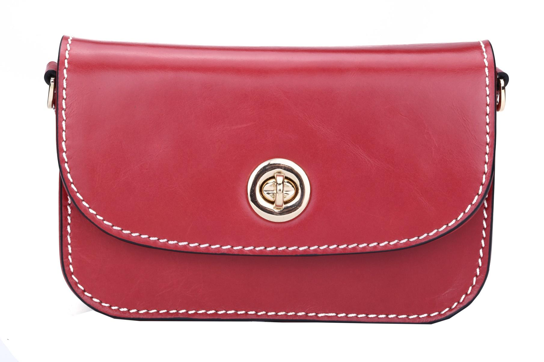 Evening Clutch Bags small genuine leather with metal lock