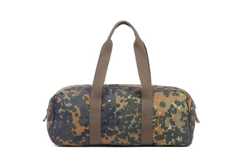 Military travel bag nylon fabric zipper closure