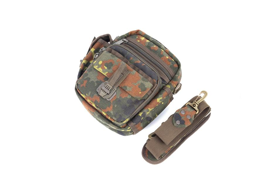 Military Crossbody Bag Nylon fabric zipper closure