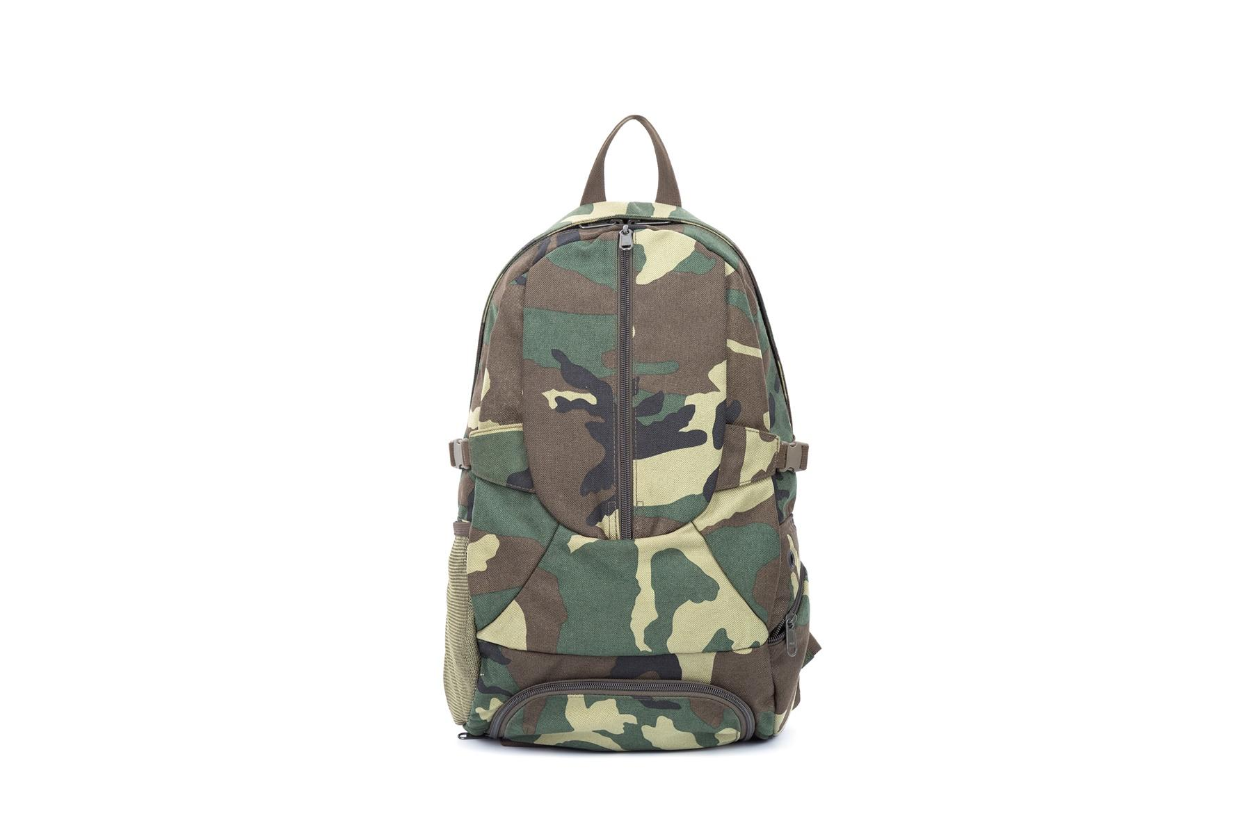 Military backpack nylon fabric with zipper closure