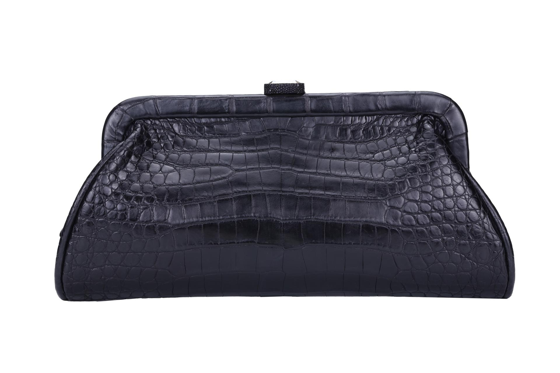 Cosmetic bag leather make top closure
