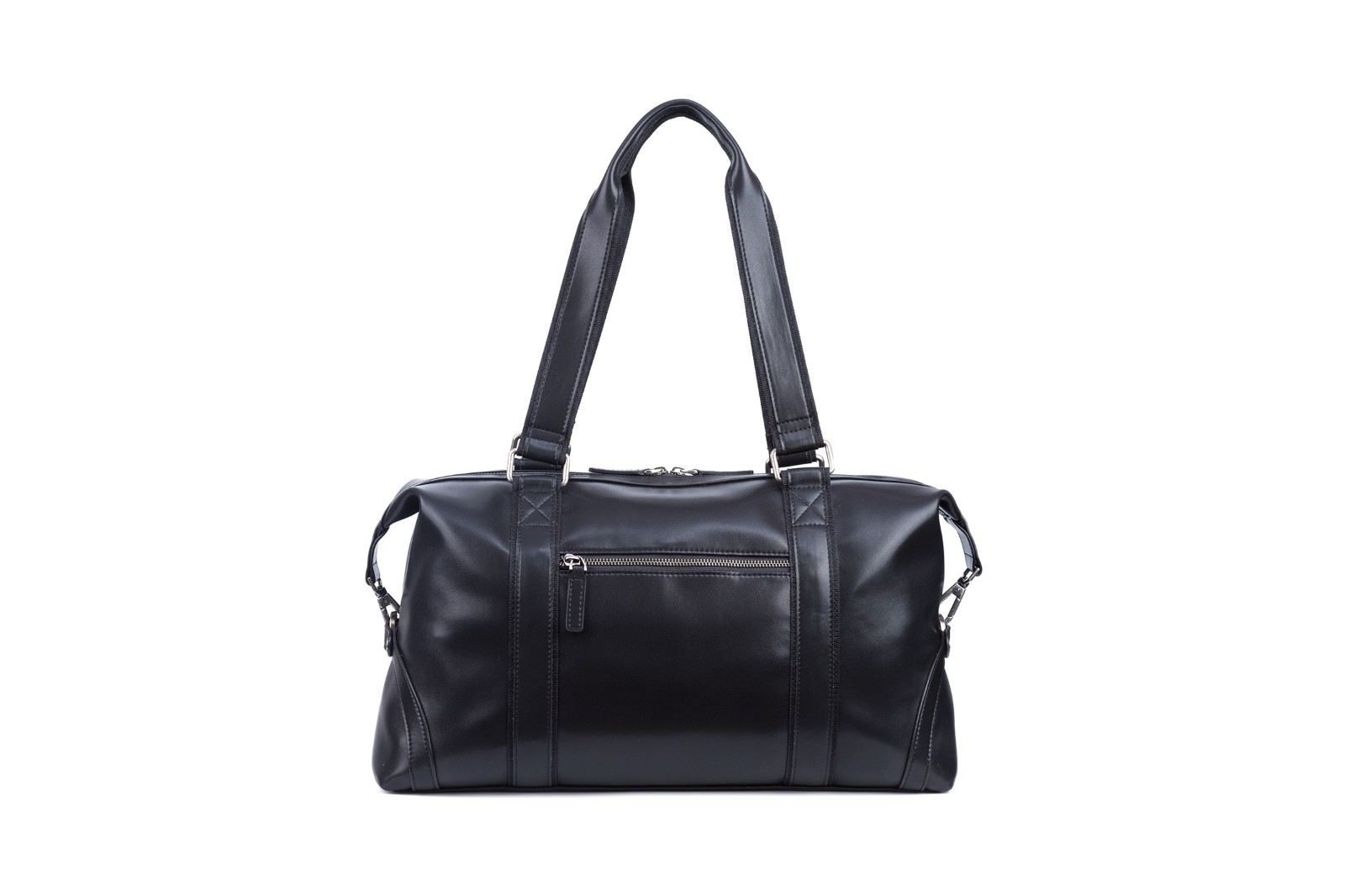 GF bags-Leather Duffle Bag Mens Duffle Leather Handle Metal Zipper Closure