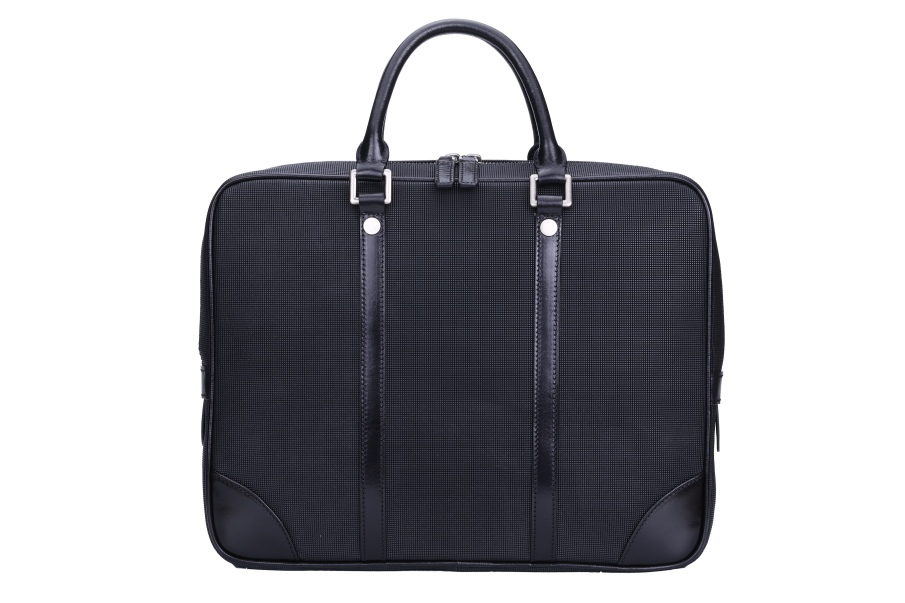 Briefcase genuine leather granule pattern comfortable handle