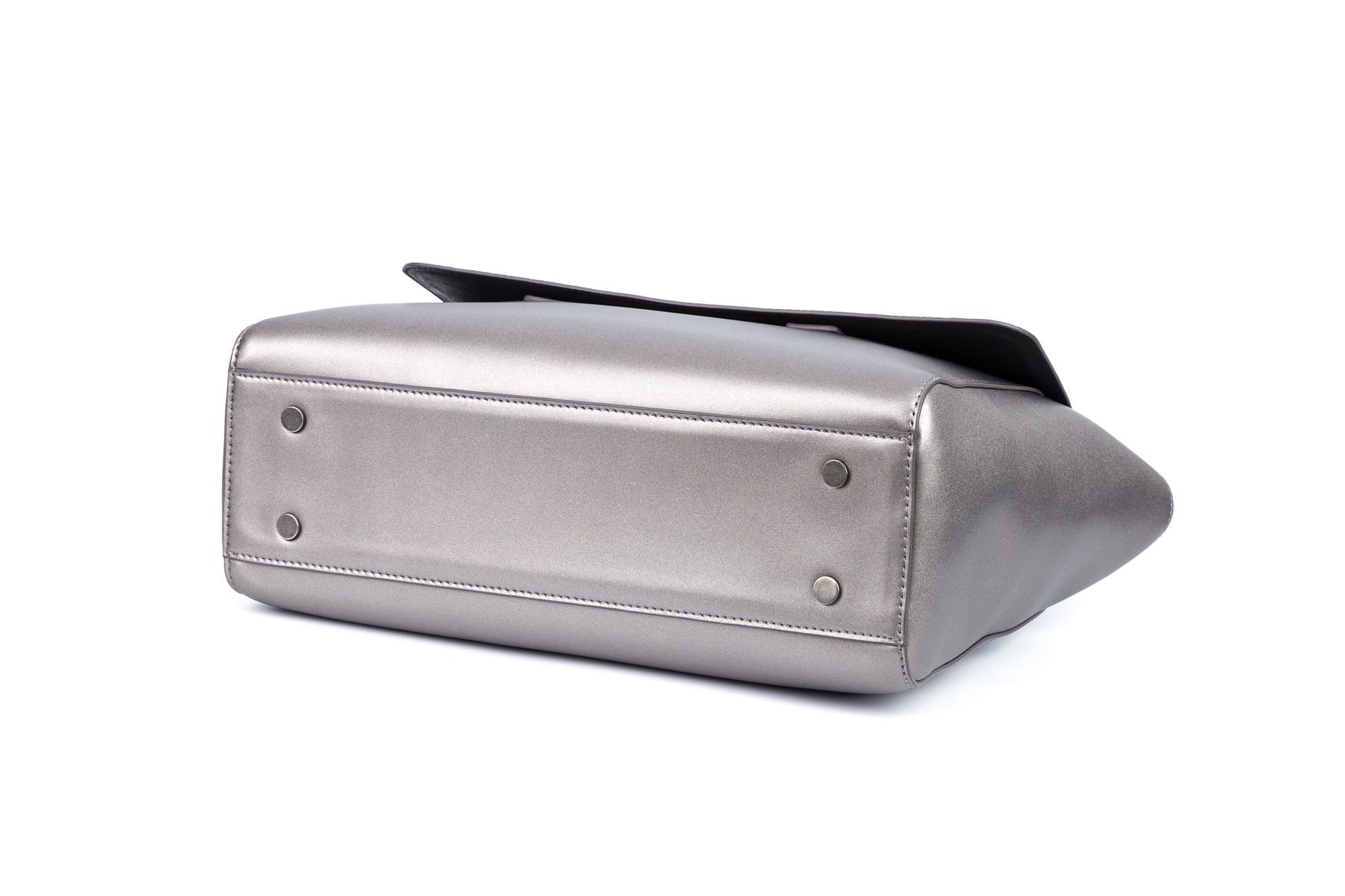 GF bags-Handbag Weaving handle microfiber leather cover closure