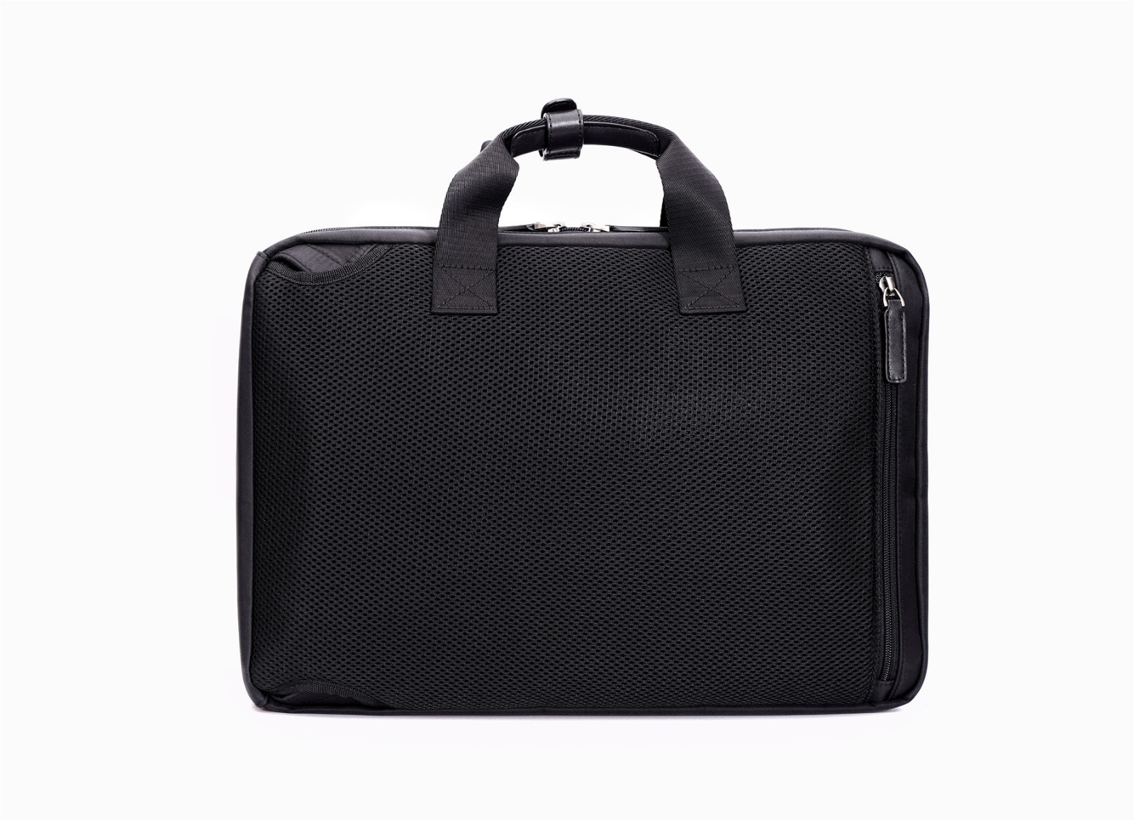 zipper closure briefcase bag leather granule for travel-10