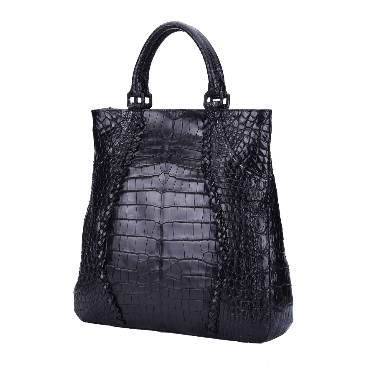 crocodile fashion handbags duffle for ladies-4