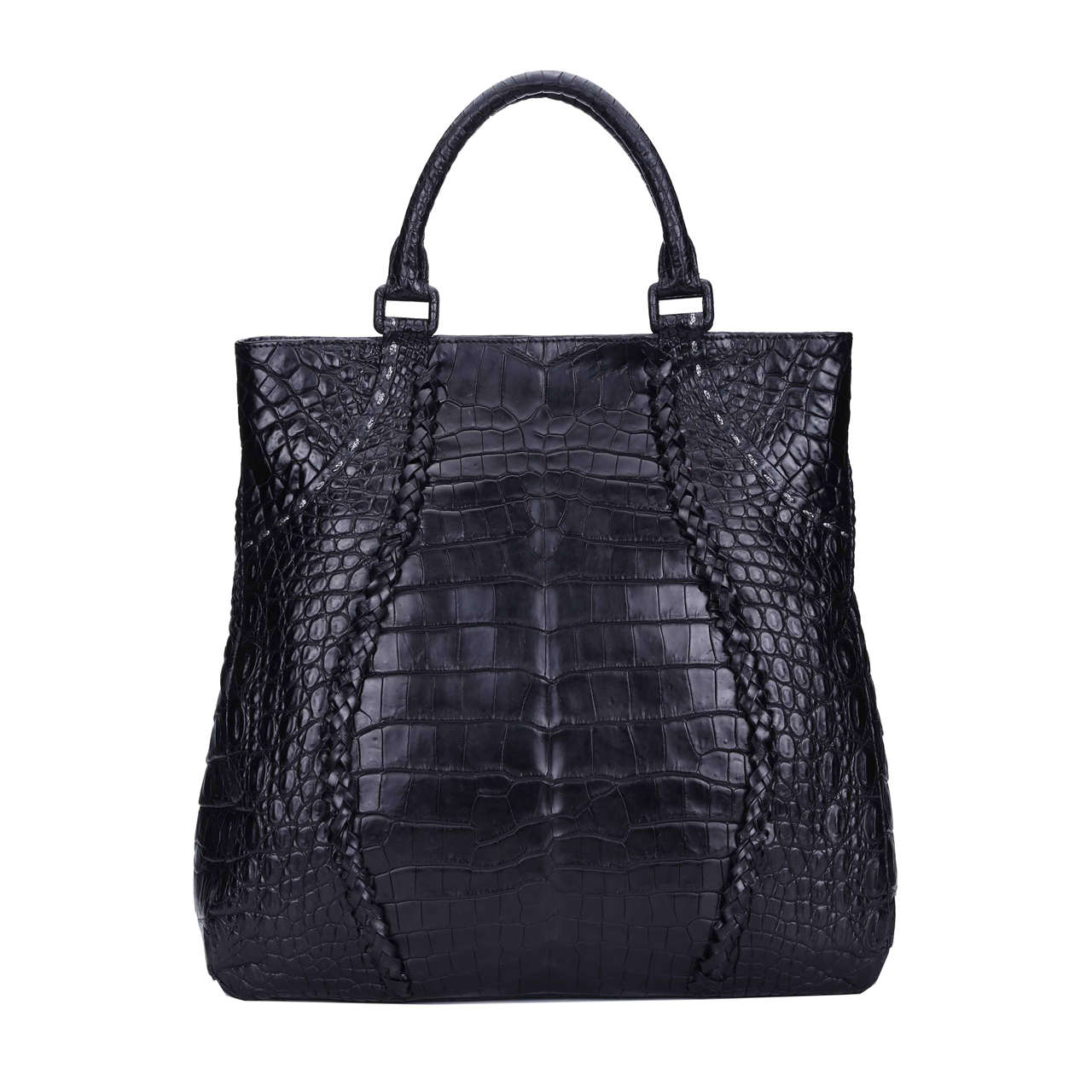 crocodile fashion handbags duffle for ladies-5