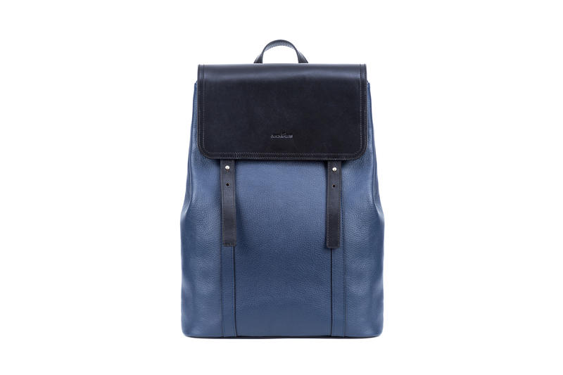 Leather Backpack large capacity with cover