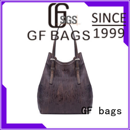 GF bags leather cover cream handbags closure for shopping