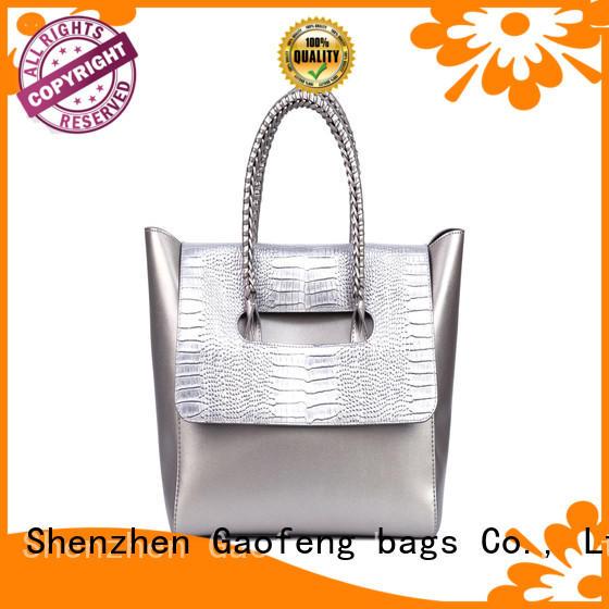 simple fashion handbags weaving handle for shopping