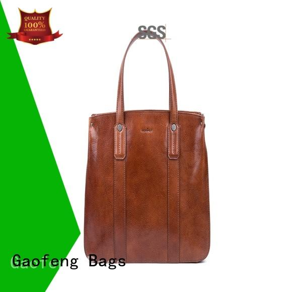 GF bags waxed cream handbags closure for women