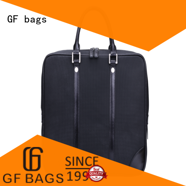 GF bags genuine leather modern briefcase granule for travel
