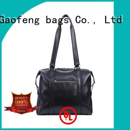 zipper leather duffle bag mens bulk production for boy GF bags