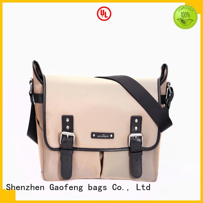 GF bags genuine leather computer messenger bag manufacturer for lady
