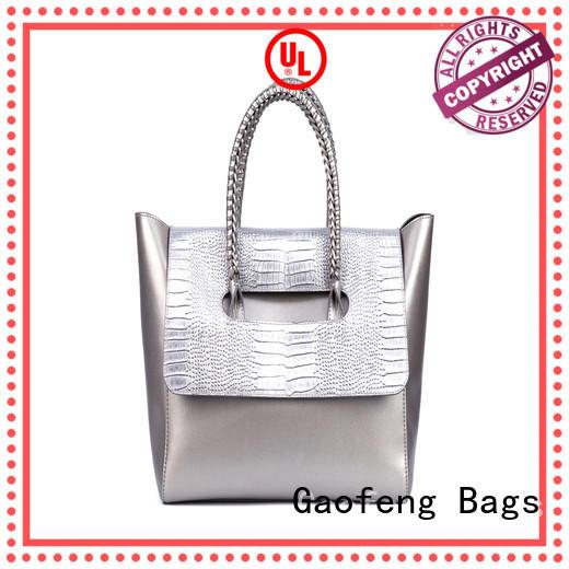GF bags zipper close ladies bag metal for ladies