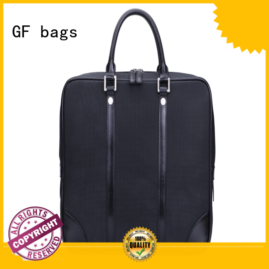 GF bags zipper closure modern briefcase granule for travel