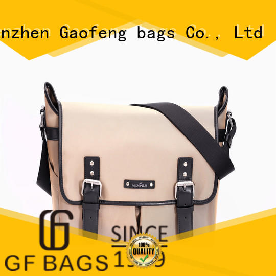 GF bags genuine leather computer messenger bag supplier for girls