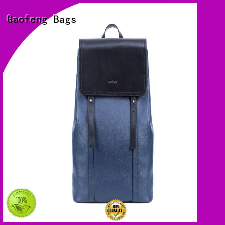 GF bags leather backpack bags closure for student