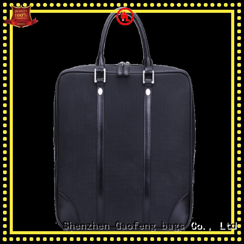 GF bags closure mens briefcase bag pattern for business trip