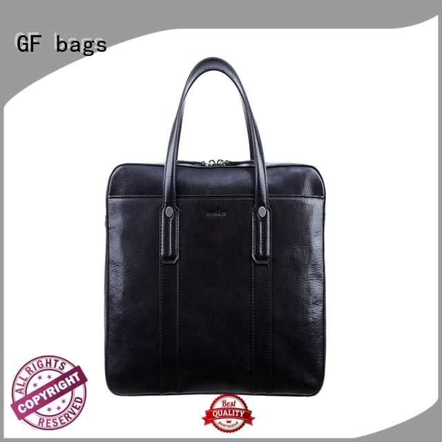 professional briefcase leather simple closure GF bags Brand
