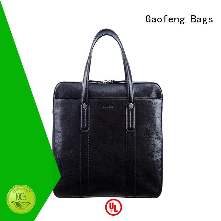 GF bags leather slim briefcase inquire now for business trip