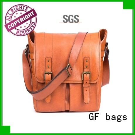 GF bags genuine leather male messenger bags manufacturer for girls