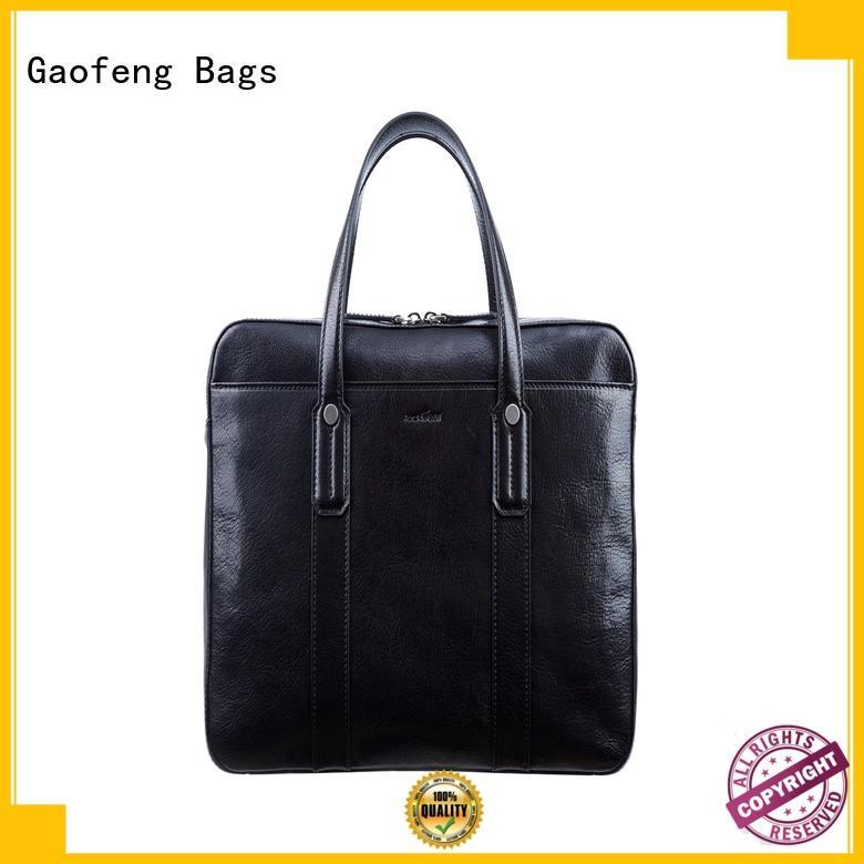 GF bags zipper closure modern briefcase briefcase for business trip
