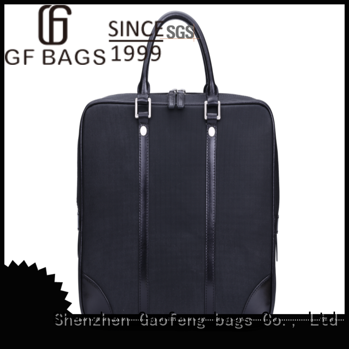 GF bags genuine leather business briefcase granule for man