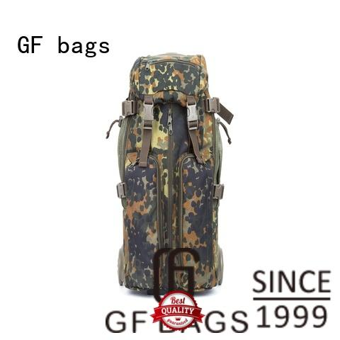 GF bags zipper military style backpack bulk production for trip