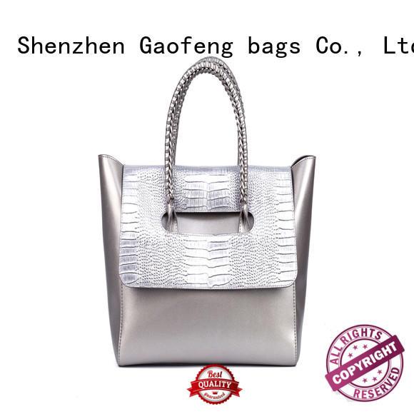 GF bags crocodile fashion handbags make for women