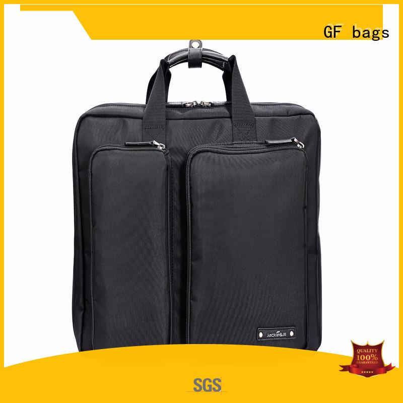 zipper closure briefcase bag leather granule for travel