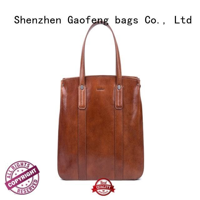 waxed ladies bag zipper metal for women