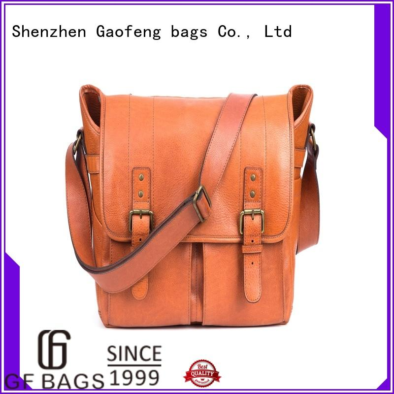 GF bags genuine leather male messenger bags for girls