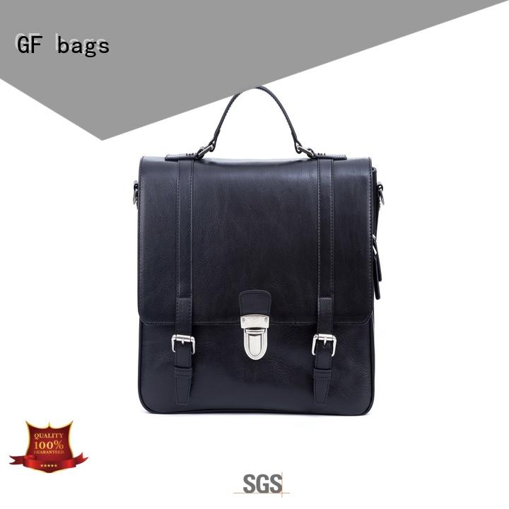 GF bags hot-sale mens leather laptop messenger bag for girls