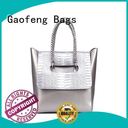 waxed fashion handbags bag metal for women
