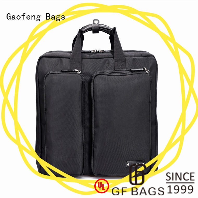GF bags zipper closure high end briefcase genuine for travel