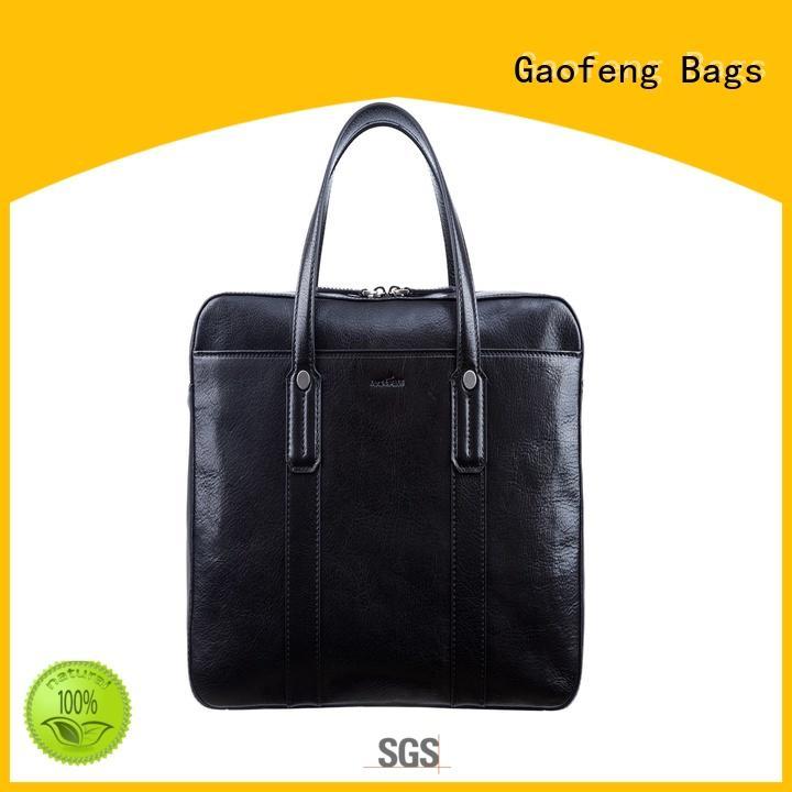 GF bags zipper closure slim briefcase for man